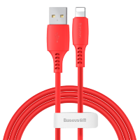Кабель Baseus Colourful Cable USB - Lightning 2.4A 1.2м Красный